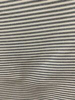 "Railroaded Blue / Offwhite Ticking Stripe Upholstery Fabric 54"" By The Yard"