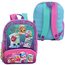 "SPK Shopkins Kids Girls School 16"" Backpack Travel Book Bag Mochila Maleta NEW"