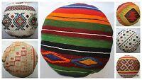 Turkish handwoven kilim cushion cover ROUND (50cm, 20inches) Circle Boho Style