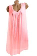 Maglie e camicie da donna rosa in seta senza maniche