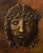 "Jesus Amazing Original Signed Fantasy Surrealism Handmade Oil Painting 30"" x 36"""