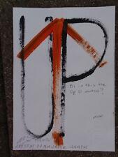 Royston Du Maurier-LEBEK Original flecha arriba firmada pintura de acrílico en papel * E
