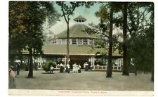 Topeka Kansas KS -CAROUSSEL AT WINEWOOD AMUSEMENT PARK- Postcard Merry Go Round