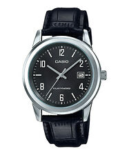 Casio MTP-VS01L-1B2 Men Watch Black SOLAR POWERED Leather strap MONTRE OROLOGIO