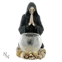 Gothic Tea Light Holder Reapers Prayer 19cm High Nemesis Now Halloween Candle