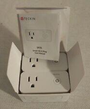 Teckin Smart Wi-Fi Plug SP25 with USB Port(2 Pack), Wireless Mini Smart Socket