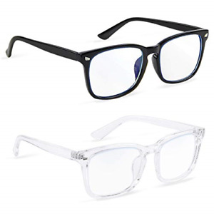 COOLOO 2-Pack Blue Light Blocking Glasses for Anti Headache and Eyes Strain for