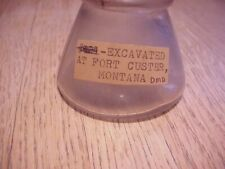 Ink Bottle Dug Fort Custer, Montana From Noted Collector