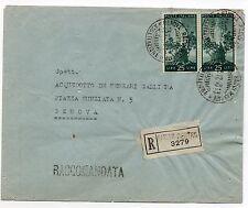 STORIA POSTALE 1948 REPUBBLICA LIRE 50 COPPI SU RACCOMANDATA GENOVA 15/12 D07274