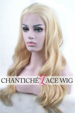 7A Virgin Human Hair Lace Front Wigs Blonde Wave Brazilian Remy Full Lace Wig UK