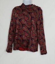 Talbots Multi Colored Women's Paisley Pullover Blouse Size 6