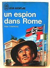 """livre coll leur aventure A86/87 """" un espion dans rome """"p. Tompkins  j'ai lu 1965"""