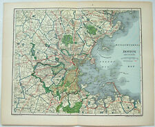 Boston, MA and Vicinity - Original 1907 City Map by Dodd Mead & Company