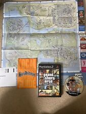 grand theft auto san andreas ps2 Complete With Map And Poster