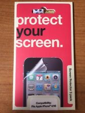 3 x Transparent Screen Protector Guard Overlay For iPhone 4S & 4
