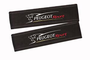 2 pcs. PEUGEOT SPORT Premium Alcantara Seat Belt Shoulder Pad, cover pad