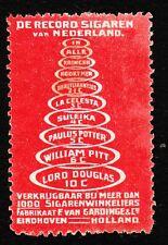 VINTAGE CINDERELLA van Gardinge Cigars Tobacco Holland Old HingeTape Remnant G