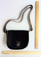 Women's BLACK Satchel Cross Body Bag Purse Style DEER SKULL Detail