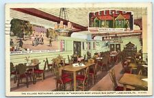 *1944 The Village Restaurant Bus Depot Lancaster Pennsylvania Postcard B44
