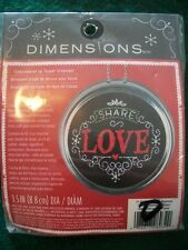 """Dimensions """"Love Jar Topper"""" Embroidery Kit Size 3.5"""""""