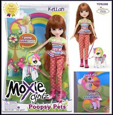 Moxie Girlz Poopsy Pets Doll KELLAN & Fantasy Pet UNICORN Eats & Poops RAINBOWS