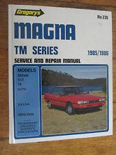 Gregorys MITSUBISHI MAGNA TM 1985 -1986 GLX SE ELITE Service & Repair Manual