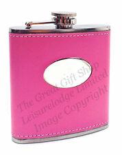 HOT PINK HIP FLASK BOX SET Wedding Hen Party Gift Women Girls Night Out ENGRAVED
