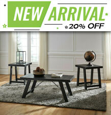 Bellfield Wooden Coffee Table and 2 Side Tables Set - 3 piece Furniture