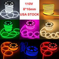 Flex LED Neon Rope Light Home Wedding Commercial Sign Building Decor Outdoor USA