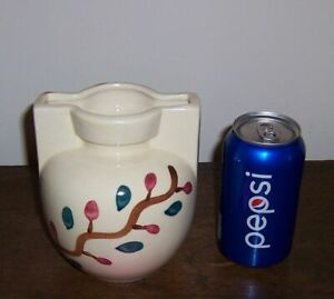 Puritan Slip Ware Pottery - Branch w/ red & green dot - Pot / Vase - Unmarked #2