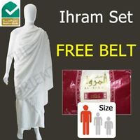 Premium Ihram Al Marwa Red Cloth Towel Ehram Luxury Quality Adult Size
