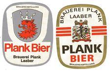 2 alte Bieretiketten Brauerei Plank Laaber (1)