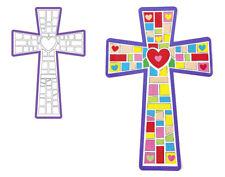 12 Giant Christian Cross Mosaic Sticker Scenes | Sunday School Messy Church