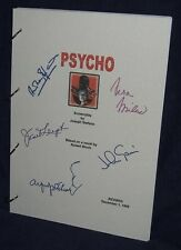 Movie Script - Cast Signed - Psycho - Hitchcock Perkins