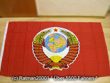 Fahnen Flagge UDSSR Großes Wappen Sowjetunion - 90 x 150 cm