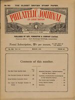 the philatelic journal of great britain . march 1941