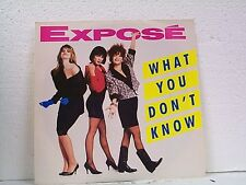 "EXPOSE ""WHAT YOU DON'T KNOW"" 45 w/PS  MINT UNPLAYED"