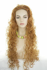 Ginger Red Long Wavy Curly Wigs