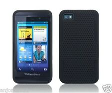 BlackBerry Z10 Laguna Mesh Hybrid Case Skin Cover Accessory Black Black
