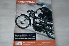 1) Motorrad 08/1961 - Puch 175 MC im Fahrbericht  - MZ Rennsportabteilung in ei