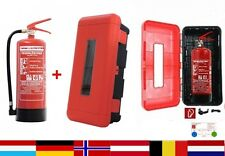 6 kg Pulver Feuerlöscher - inkl. Schutzbox aus witterungsbeständigem Kunstoff