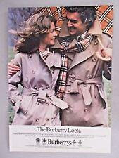 Burberry Trenchcoat PRINT AD - 1979 ~~ Burberrys, rain coat