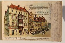 26575 Litho AK Leipzig Thüringer Hof Ausschank von Würzburger Hofbräu Bier 1914
