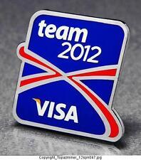OLYMPIC PINS 2012 LONDON ENGLAND UK VISA SPONSOR TEAM 2012