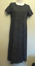 Laura Ashley Small UK10 EU38 US6 navy and stone floral stretch cotton dress