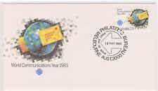 (K84-9) 1983 AU FDC 27c World communications Year (I)