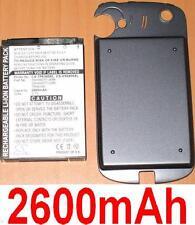 Coque+Batterie 2600mAh type 35H00077-00M 35H00077-02M TRIN160 Pour HTC Panda