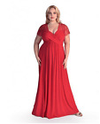 Maternity Evening Dress,Lace Top Maxi Gown,Baby shower,Plus Size women's 18-34