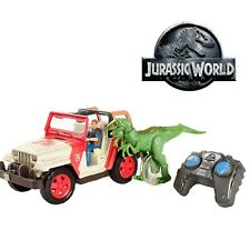 Jurassic World Jeep Wrangler Raptor Attack RC Jurassic Park Toy Car & Dinosaur