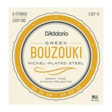 D'Addario EJ97-6 Greek Bouzouki Strings - Nickel Plated 6 String Loop End Set